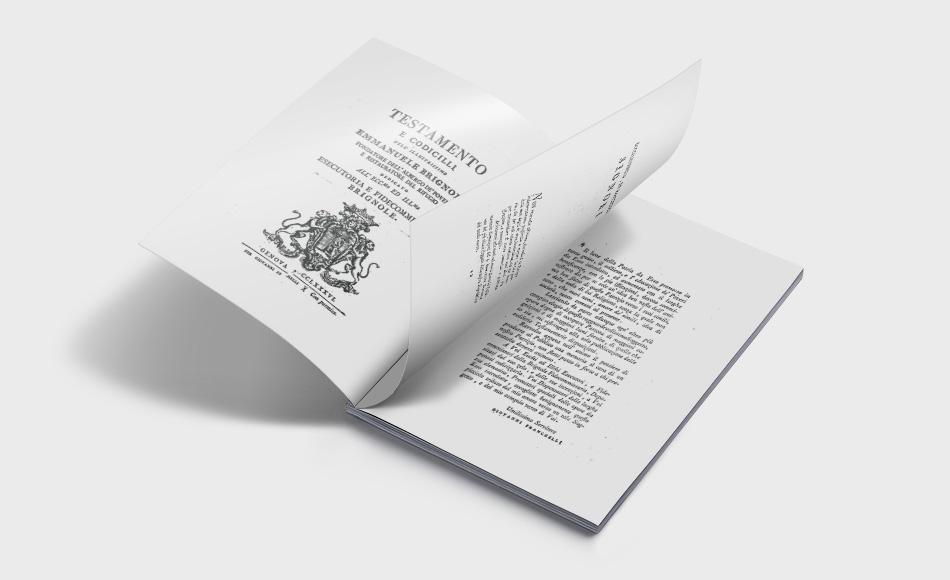 Testamento e Codicilli dell'illustrissimo Emanuele Brignole - Albergo dei Poveri Genova