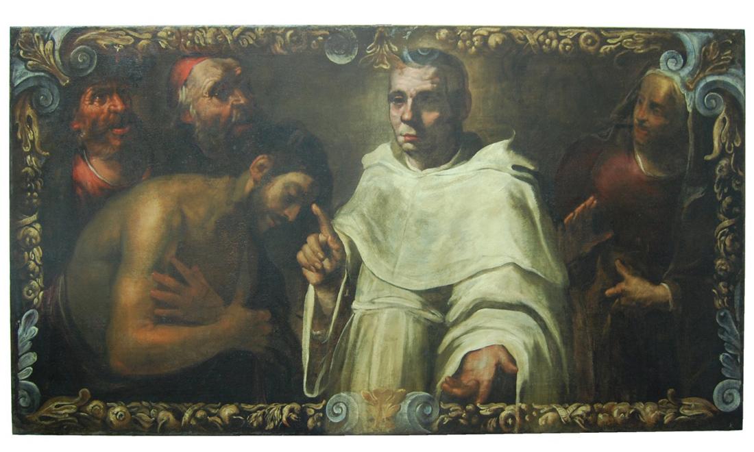dipinti-Miracolo-di-un-santo-monaco - Albergo dei Poveri Genova