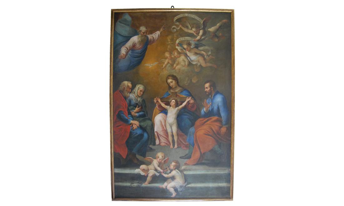 dipinto_sacra-Famiglia-con-i-santi-Anna-e-Gioacchino - Albergo dei Poveri Genova