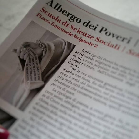 Albergo dei Poveri di Genova, dettaglio su documentazione