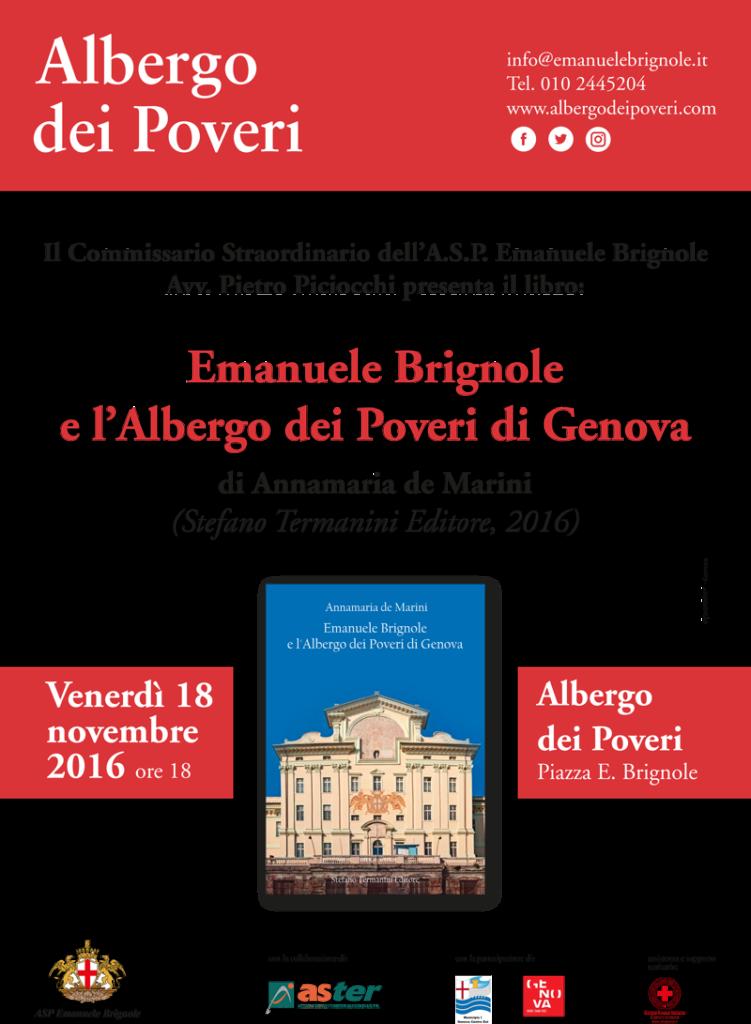 Presentazione del libro Emanuele Brignole e l'Albergo dei Poveri a Genova